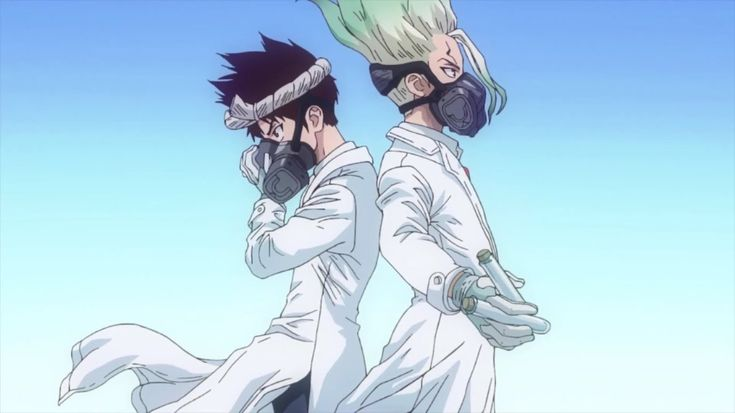 Chrome & Senku Ishigami Dr. Stone Anime, Anime fanart