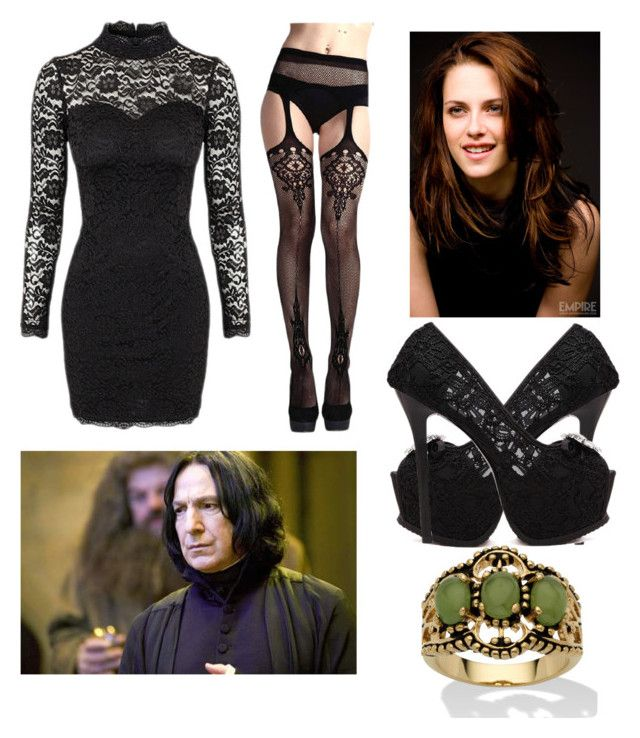 McGonagall's daughter has date with Severus Snape by slytheriner on Polyvore featuring Palm Beach Jewelry