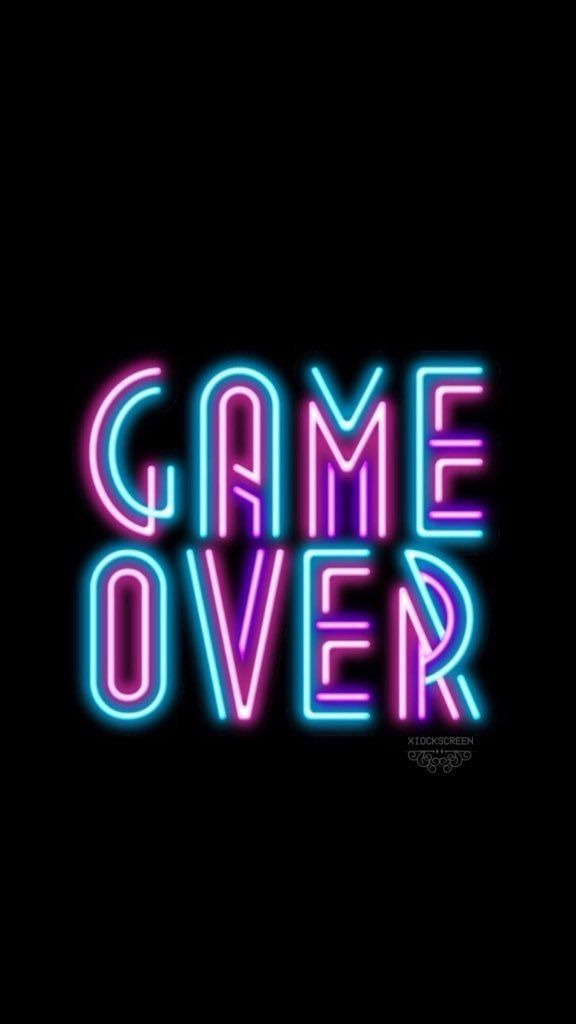 Game Over Neon Wallpaper Credits Xiockscreen On Twitter Neon Wallpaper Games Signs