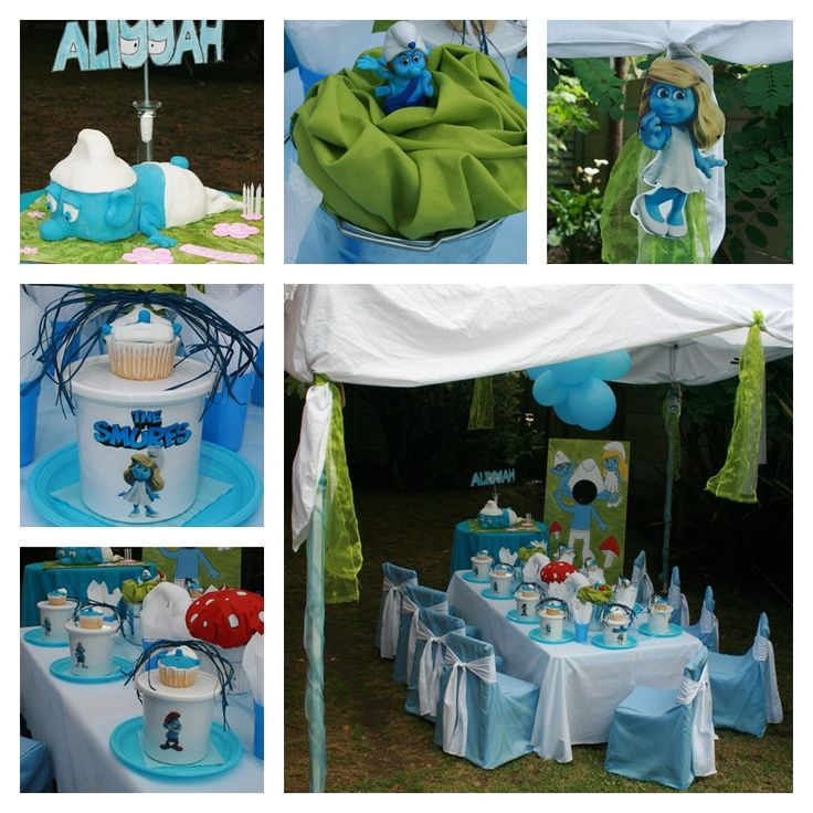 155 Best SMURFS BDAY PARTY Images On Pinterest
