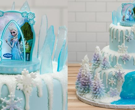 Is your little one a fan of Frozen? Learn to make a 3-Tier Frozen cake for a birthday she'll never forget.