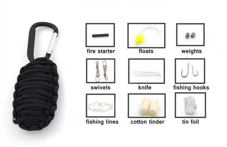 Military 550lb Nylon Paracord Emergency Survival Kit 10 in 1 set with Carabiner Tinder Fire Starter Fishing Tool for Hunting Camping Hiking Outdoor Activities *** Click image to review more details.