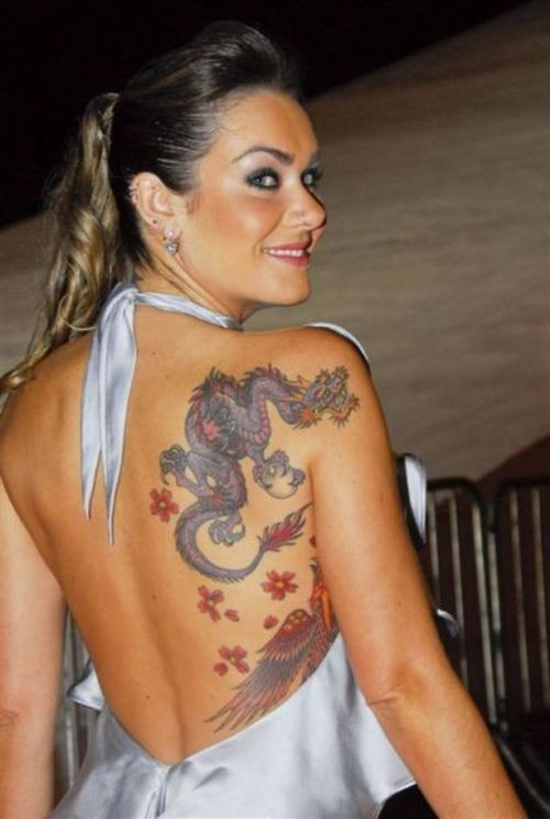 female dragon tattoos | afrenchieforyourthoughts: girl tattoo with dragon tattoos designs