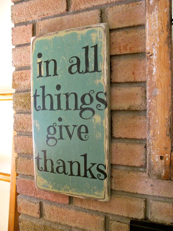 In All Things Give Thanks Wall Sign Fall Decor by three1seven