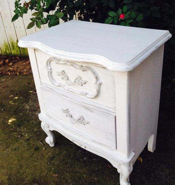 Pretty Vintage French Provencal Night Stand Table