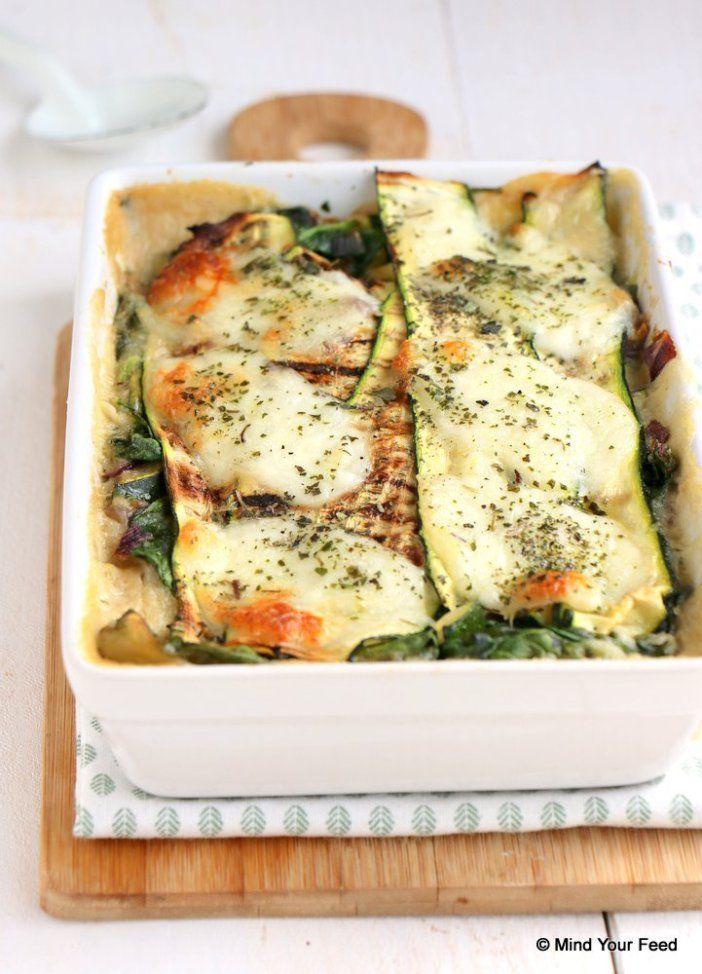 Lasagne met courgette en spinazie - Mind Your Feed