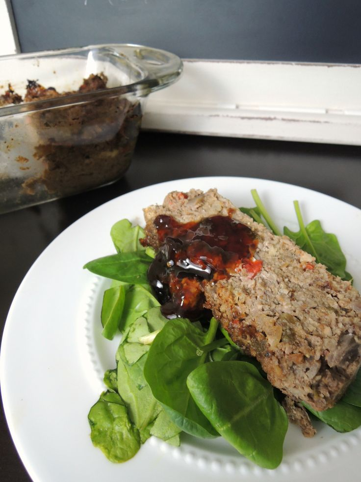 """Vegetarian Mushroom Goat Cheese """"Meatloaf""""Perfect for #meatlessmondaySo rich and savory - you'd never guess it's meatless!"""