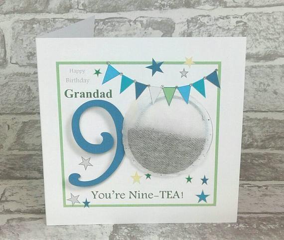 Personalised 90th Birthday Card Grandad 90th Birthday Card Etsy 90th Birthday Cards 30th Birthday Cards 60th Birthday Cards