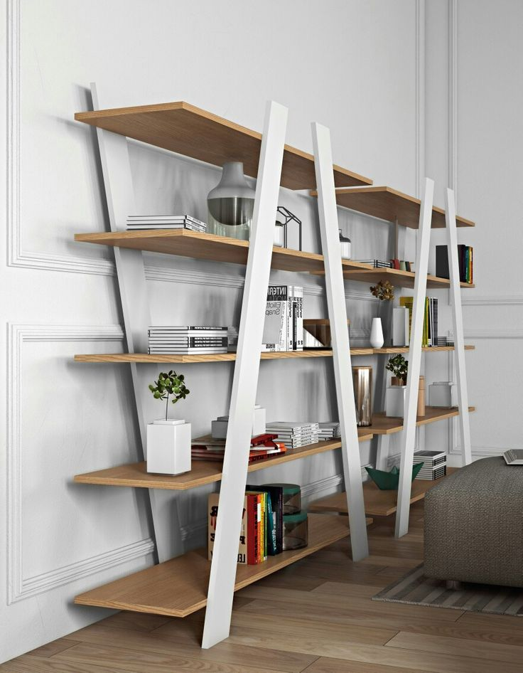 Quality, made in Portugal shelving unit with contrasting pure white and oak finishes and dynamic diagonal lines - now in our showroom in Torrance, California! Check out the style, functionality, and quality of our furniture on our website at contemporarylifestyles.com! #Torrance #TorranceFurniture #Furniture #Shelving #ShelvingUnit #BookShelves #WallShelves #Bookshelf #SouthBay #LosAngeles #Style #ContemporaryFurniture #ModernFurniture