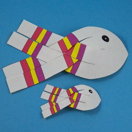 paper 3d projects | 3D Paper Fish - 3D Paper Crafts - Aunt Annie's Crafts