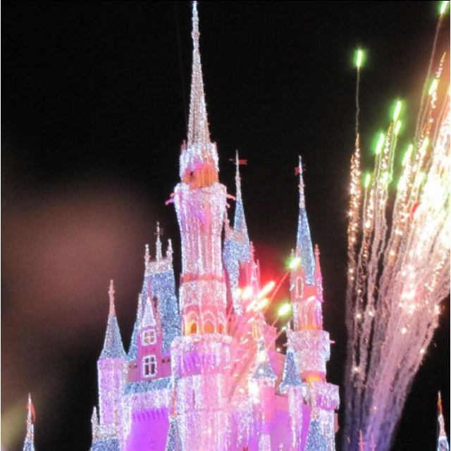 New year's eve at disney castle