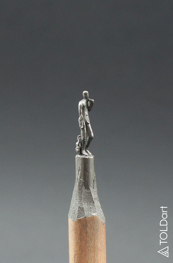 David (Michelangelo Buonarroti) #pencil #sculptre #art #david #michelangelo…