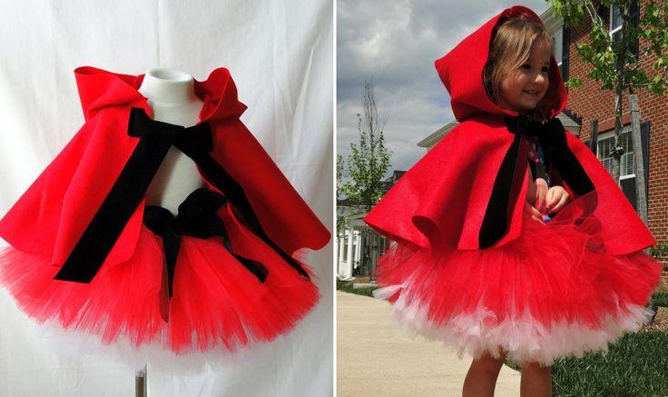 Tutu Disfraz Caperucita roja Con capa