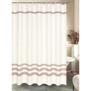 Brown And Cream Chevron Shower Curtain
