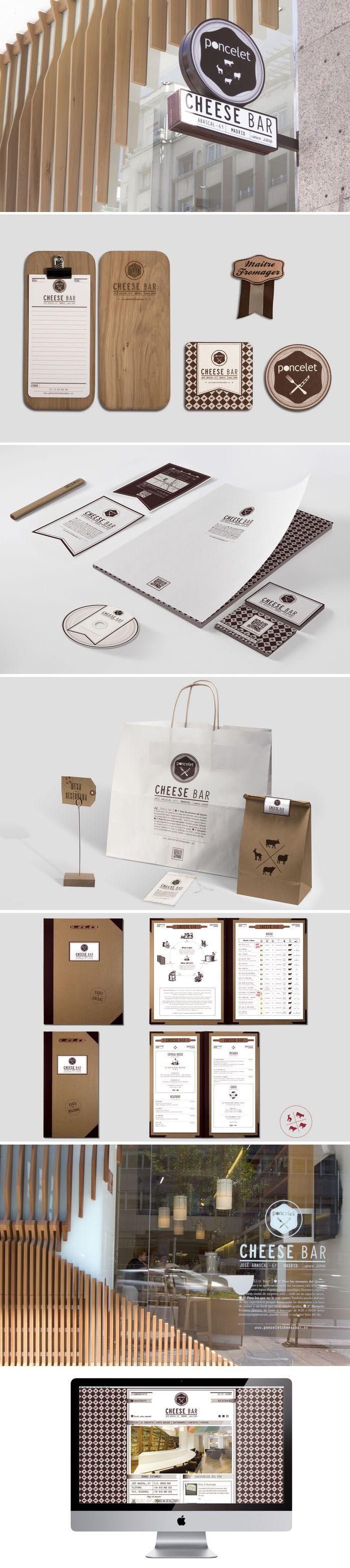Unique Branding Design, Poncelet Cheese Bar #branding #design (http://www.pinterest.com/aldenchong/)