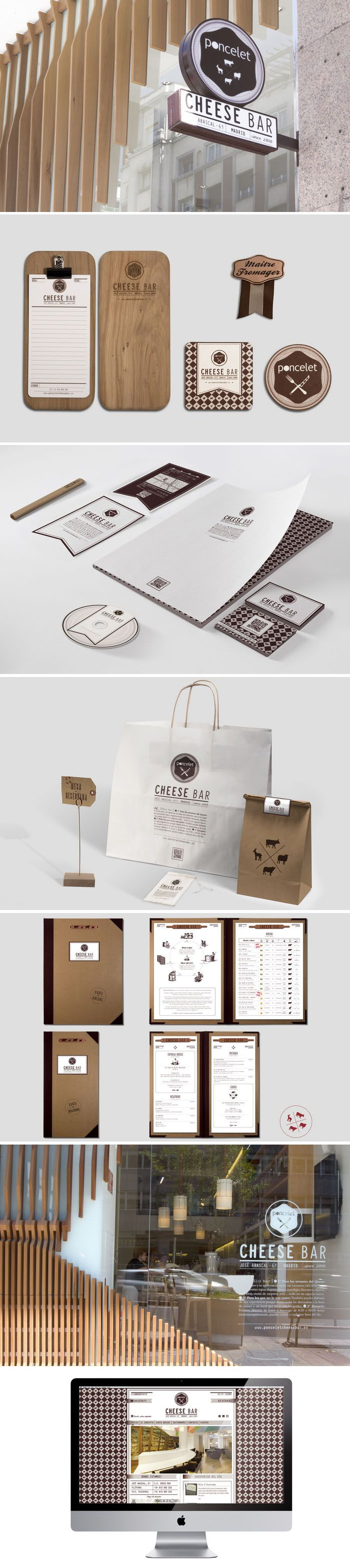 Poncelet Cheese Bar Branding | #stationary #corporate #design #corporatedesign #identity #branding #marketing < repinned by www.BlickeDeeler.de | Take a look at www.LogoGestaltung-Hamburg.de