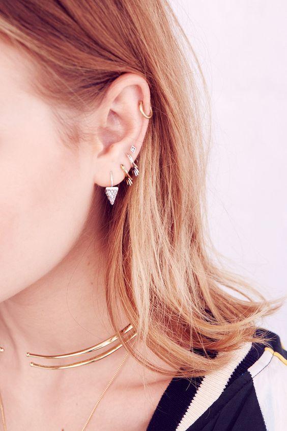 30 best piercing d 39 oreille images on pinterest bijoux diaporama et les tendances. Black Bedroom Furniture Sets. Home Design Ideas