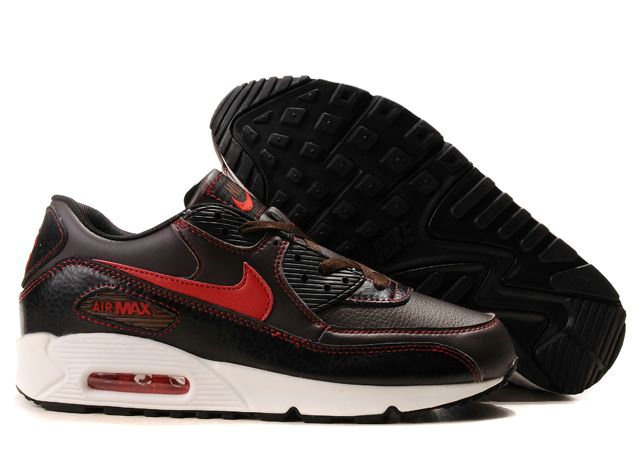 Cheap Cheaper Nike Air Max 90 Mens Premium Trainers Chocolate Red And White  Shoes UK Online Shop Store