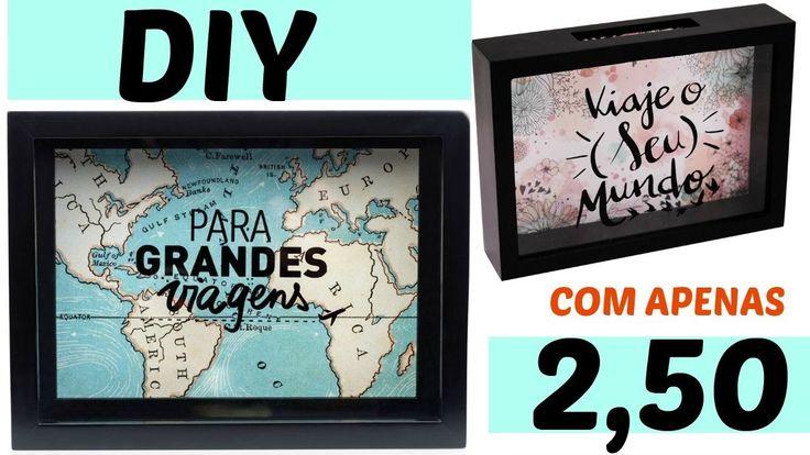DIY:QUADRO COM APENAS 2,50(QUADRO-COFRE)|EMILY SANTIAGO