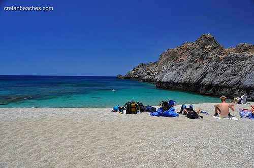 CRETE Schinaria beach by Plakias, Crete