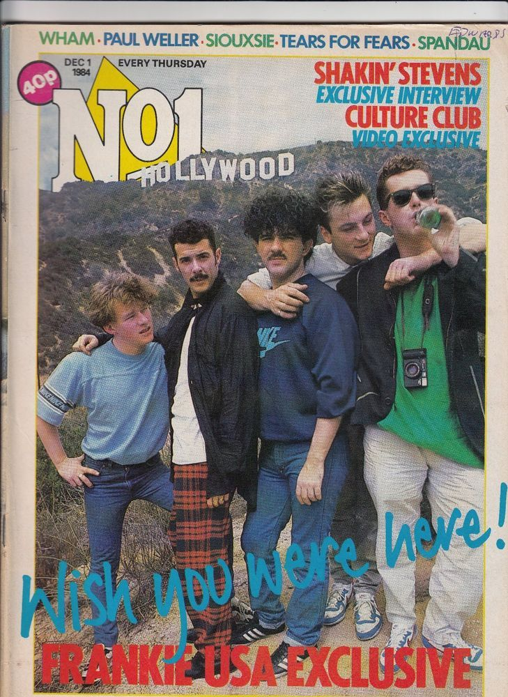 No.1 Music Magazine Dec 1 1984 FRANKIE GOES TO HOLLYWOOD - JOHN KEEBLE