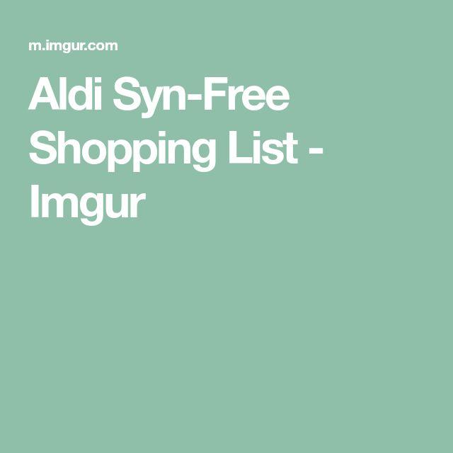 Aldi Syn-Free Shopping List - Imgur