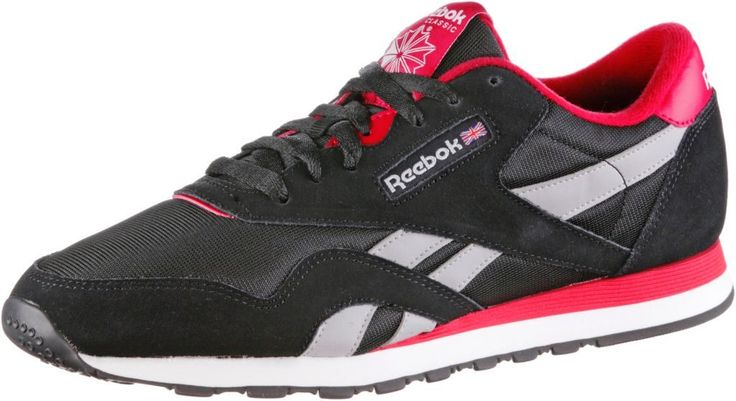 #Reebok #Classic #Nylon #Sneaker #Damen #schwarz/rot