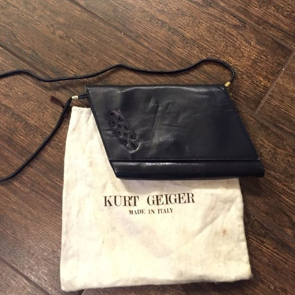 Black  vintage leather Kurt Geiger bag/clutch Adorable bag/clutch. Very good used condition. Minimal wear. Comes with dust bag. Kurt geiger  Bags Crossbody Bags