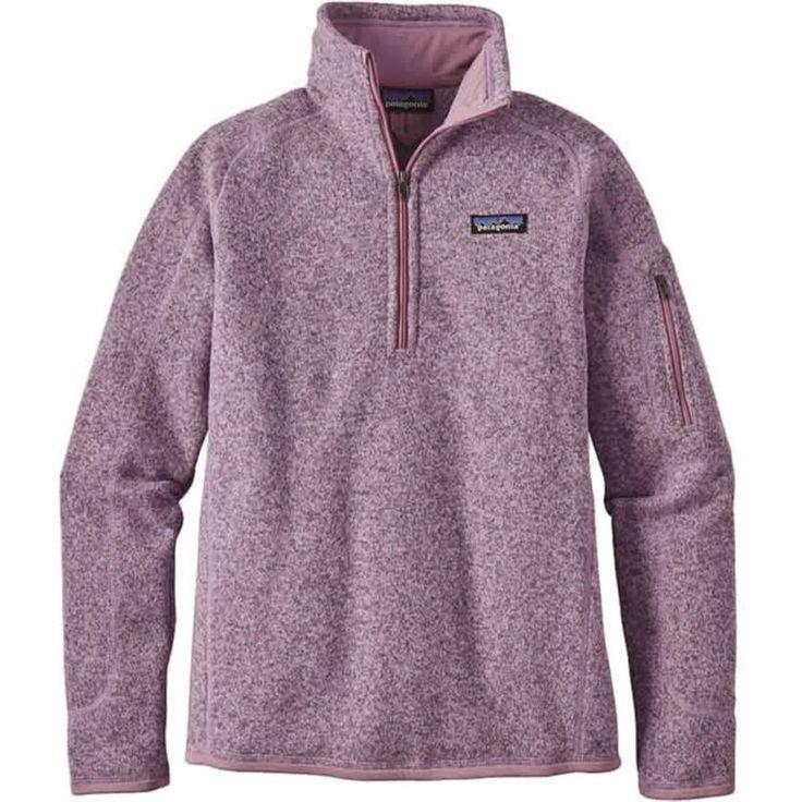 Patagonia Women's Better Sweater Quarter Zip Fleece Jacket, Size: Large, Dragon Purple