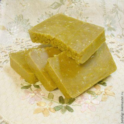 Мыло из натуральной основы «с нуля» «Облепиха» - жёлтый,мыло,мыло ручной работы
