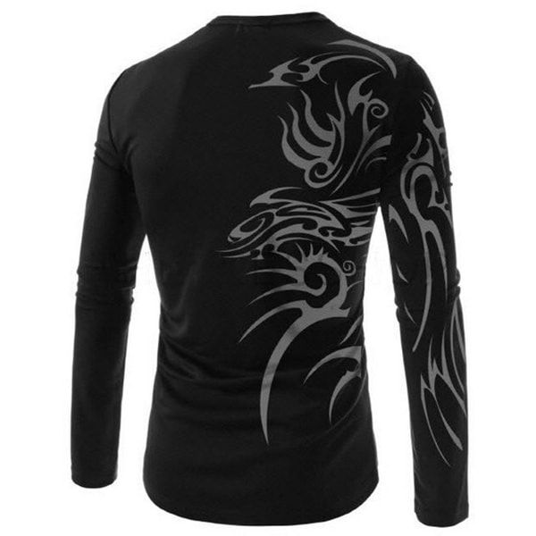 Men'S New Fashion Casual Sports Tattoo Printing Breathable T-Shirt