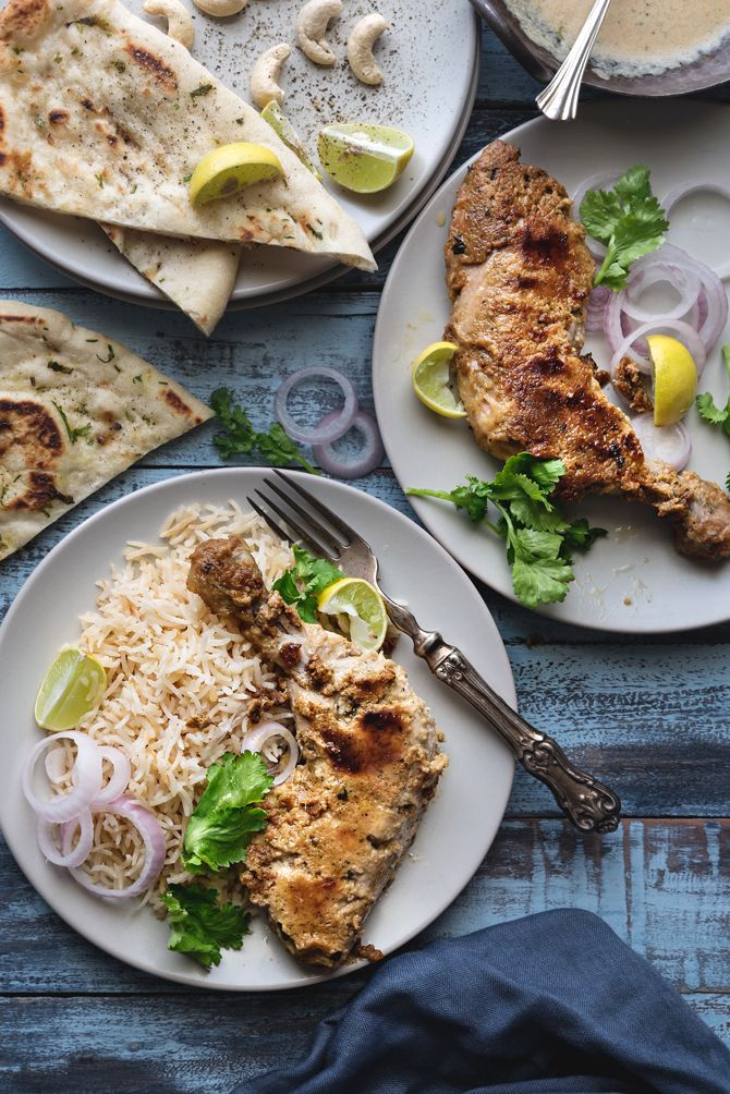 Afghani Tangdi Kabab is a wonderful royal preparation of chicken in rich spices&nut paste.If you love chicken,then this is must make once to make it forever