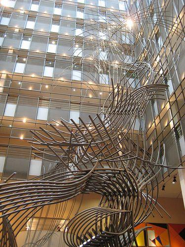 Artwork in the European Parliament, Brussel, Belgium.