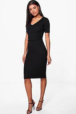 Jade Ruched Waist Tailored Midi Dress