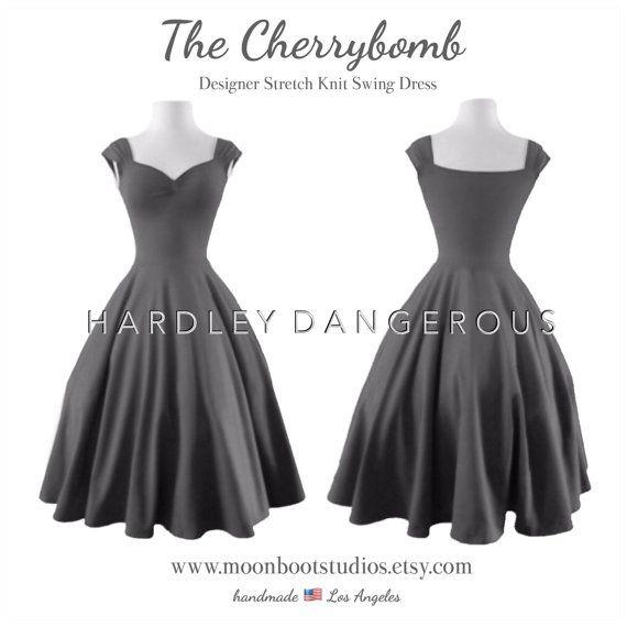 Charcoal Grey BRIDESMAID Dress Gray Semi Formal by MoonbootStudios