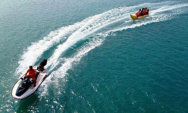Free Banana Boat at #exploreseribu #explorepulauseribu #pelangiisland #pulaupelangi #pulauayer #pulausepa #pulauputri #pulaubidadari #pulauperak #pulauharapan #pulautidung #pulauseribu #jakarta #indonesia #instalike #likeforlike #like4like #instagood #beatiful #beach #hotel #travel #trip