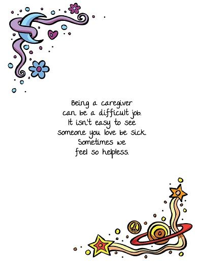 This is a great card for a caregiver