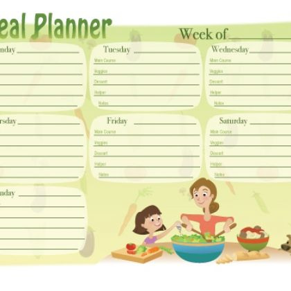 62 best Meal planner images on Pinterest Households, Free - menu planner template printable