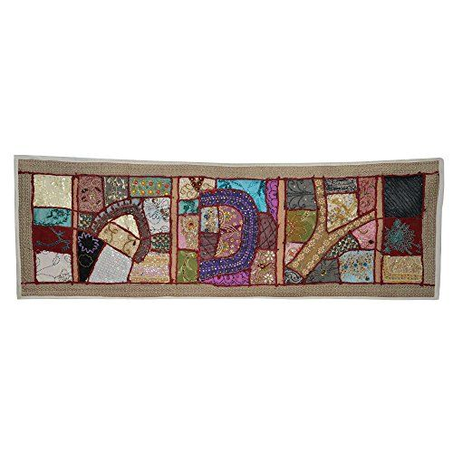 Handcrafted Wall Décor Beads, Sequins Thread and Patch Work Wall Hanging DronaIndia