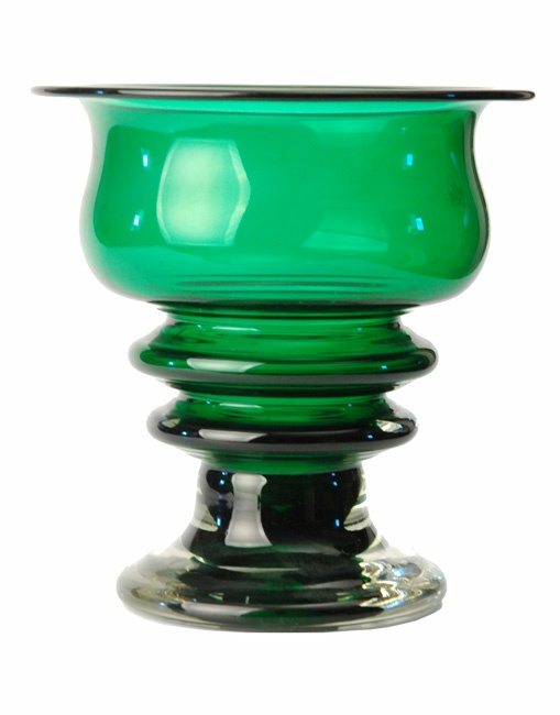 LARGE RIIHIMAEN 1960S FINNISH STUDIO GLASS VASE BY TAMARA ALADIN