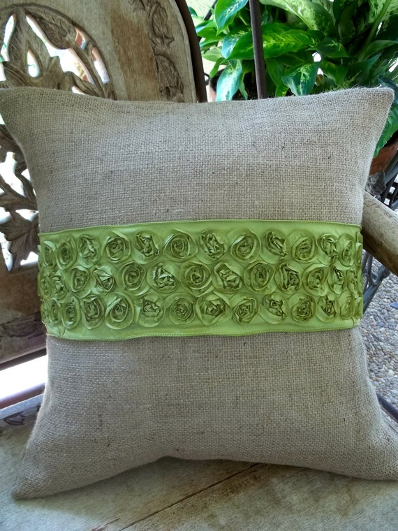 I like the idea of wrapping a large ribbon around existing pillows with the change of & 100 best Ribbon ideas images on Pinterest   Burlap weddings ... pillowsntoast.com