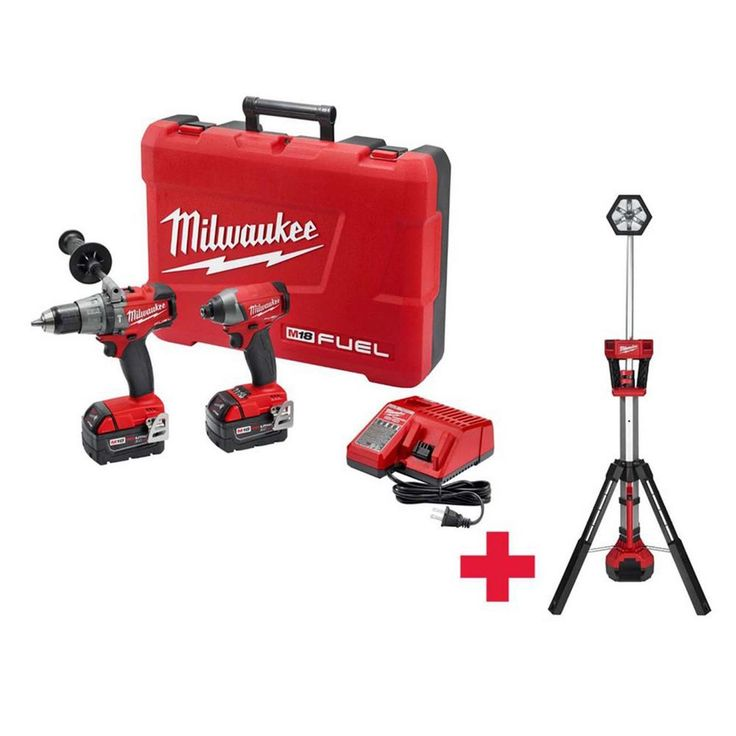 Milwaukee M18 18-Volts Lithium-Ion Cordless Hammer Drill-Impact Driver Combo Kit