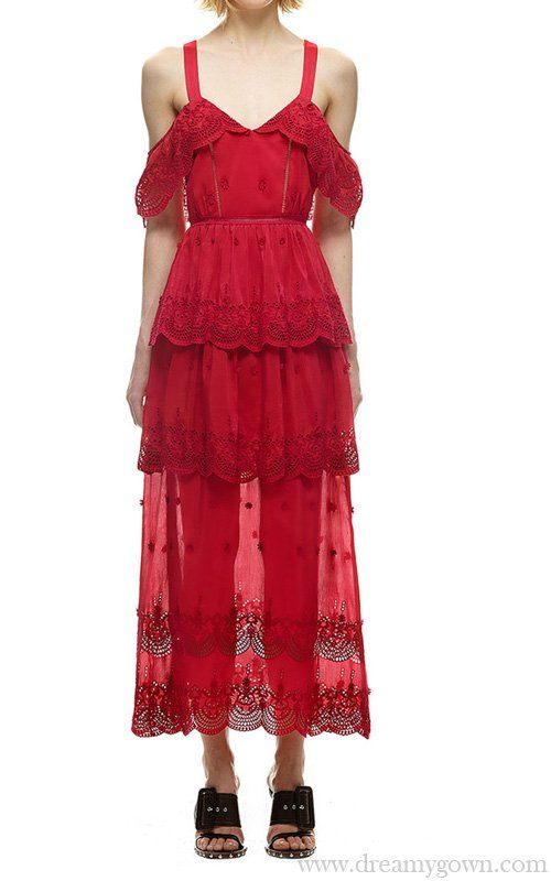 c3cafaf269d5 Self Portrait Raspberry Red Off Shoulder Dress