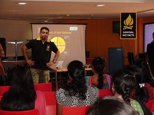 Self defense classes. Women of Chennai - your safety is about training more of your mind than your body.  In this article, safety expertAnoop Madhavan talks about why psychological training is more important than physical training when it comes to self defense.