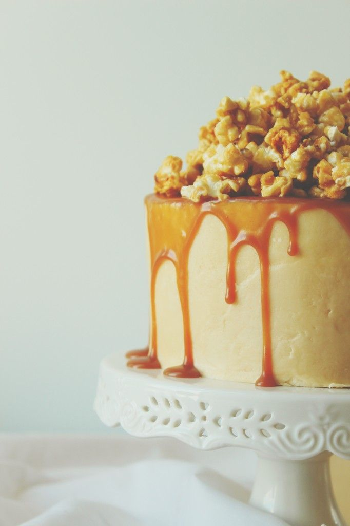 Buttered Caramel Popcorn Cake: