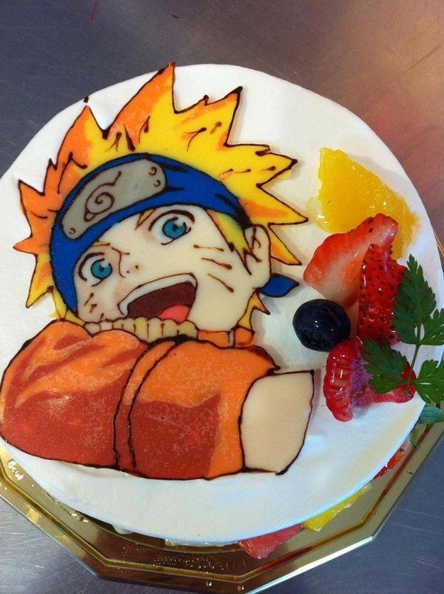 anime cakes from japan naruto birthday 8th birthday birthday cakes ...