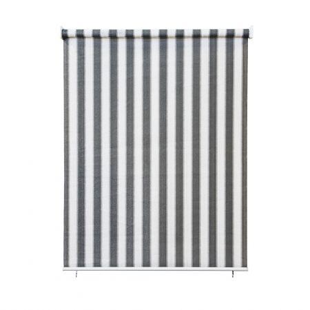 Außenrollo / Balkon / Senkrechtmarkise 160 x 140cm grau / weiß - JAROLIFT