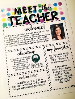 Meet the Teacher Template- Editable- Watercolor Classroom