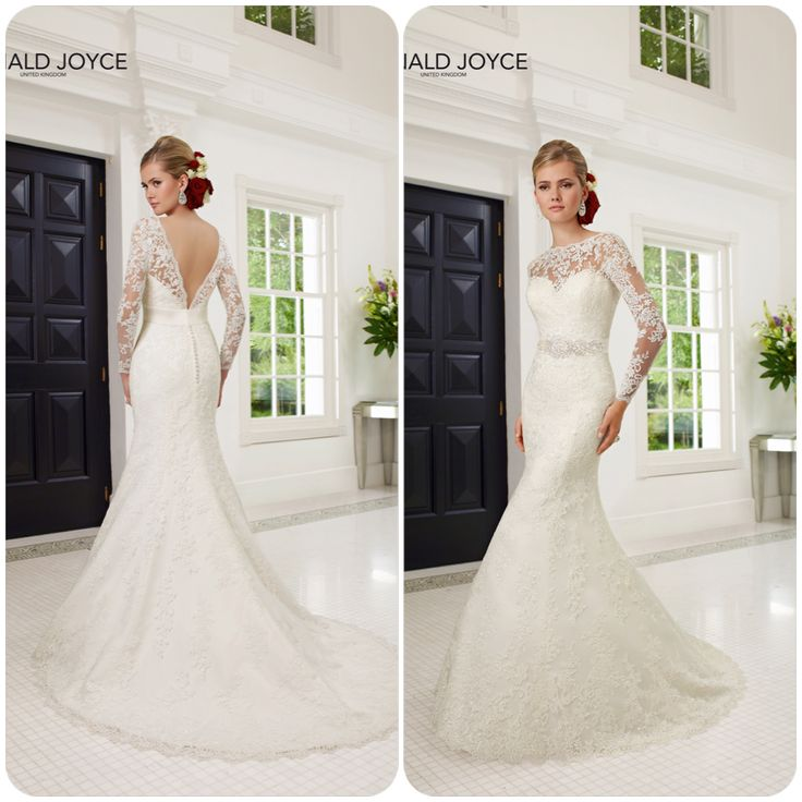Stunning lace gown with detachable belt.  Comes in 3 lengths.