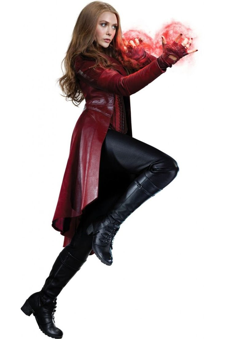 Captain America Civil War Avengers Scarlet Witch Wanda Outfit Cosplay Costume_1 …